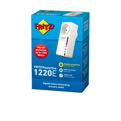 AVM FRITZ!Powerline 1220E 1200 Mbit/s Ethernet LAN Wit 1 stuk(s)
