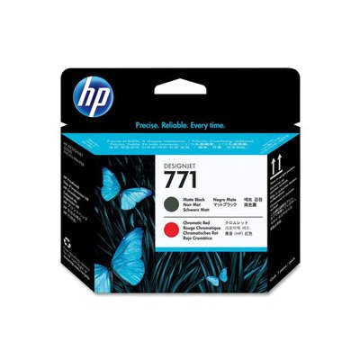 HP Printkop 771 Single Pack CE017A zwart, rood