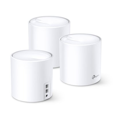 TP-LINK DECO X60(3-PACK) mesh-wifi-systeem Dual-band (2.4 GHz / 5 GHz) Wi-Fi 6 (802.11ax) Wit 2 Intern